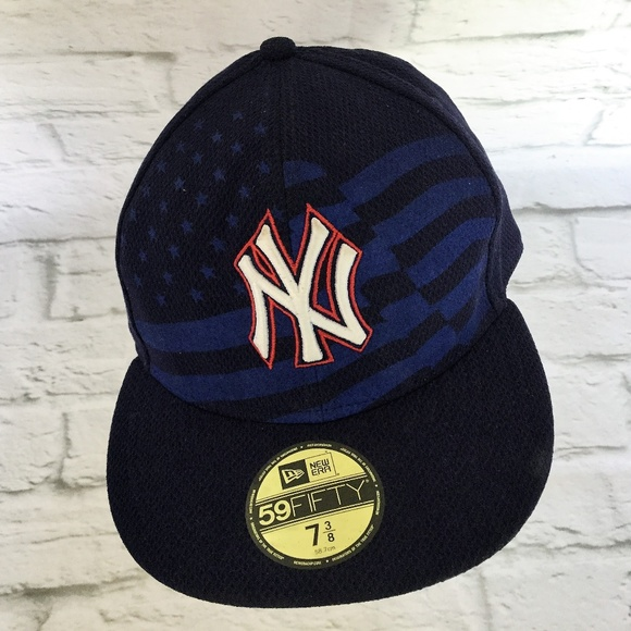 NEW YORK Yankees New Era 59 Fifty USA Flag 7 3 8. M 5b0b5af6d39ca224ffe05d8d c7cf2ac100a